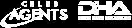 CelebAgents DHA logo - white