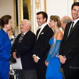 Erin and Anton Meeting Princess Anne at Buckingham Palace for the Not Forgotten Association
