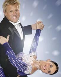 Erin Boag and Peter Schmeichel